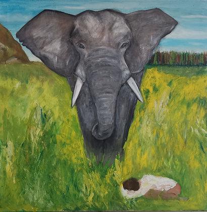 Pardon, Acrylique sur toile, 100 x 100 cm