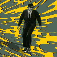 Tripping 1950s skater
