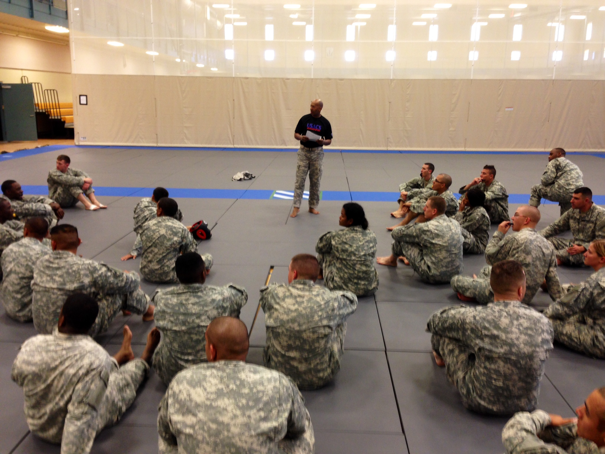 Instructing Combatives Class