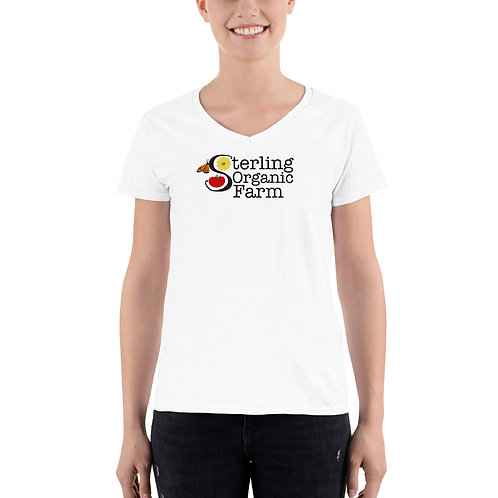 Sterling Organic Farm Ladies V-Neck Shirt