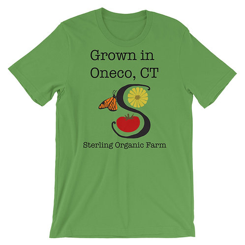 Grown in Oneco Farm Logo Short-Sleeve Unisex T-Shirt