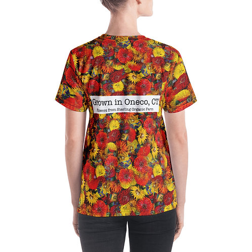 Grown in Oneco Red Flowers Women's V-neck
