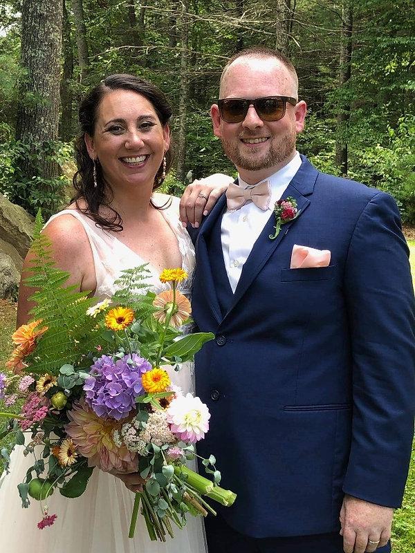 locally grown bridal bouquet wedding flowers farm