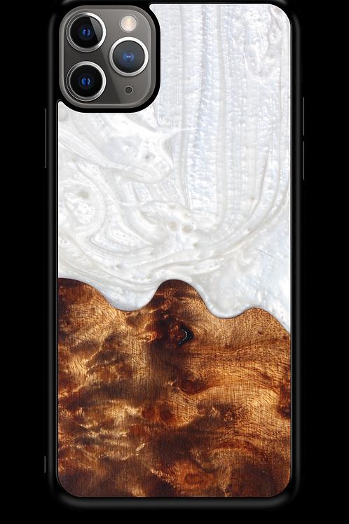 Slim Resin & Wood Phone Case   Arctic White