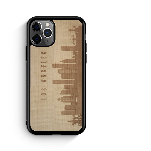 CityScape Wooden Phone Case (Los Angeles CA Skyline)