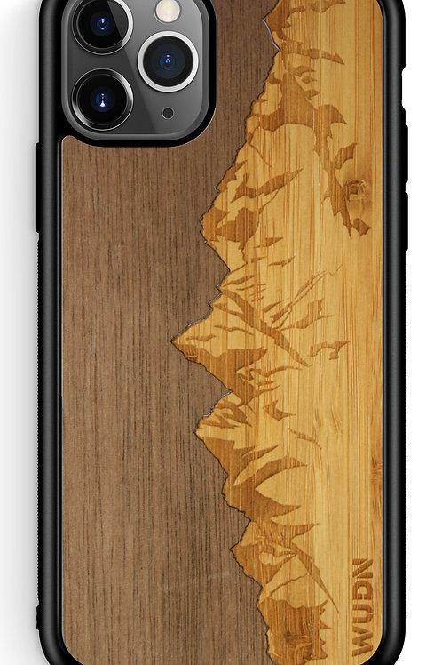 Slim Wooden Phone Case (Sawtooth Mountains Walnut Sky)