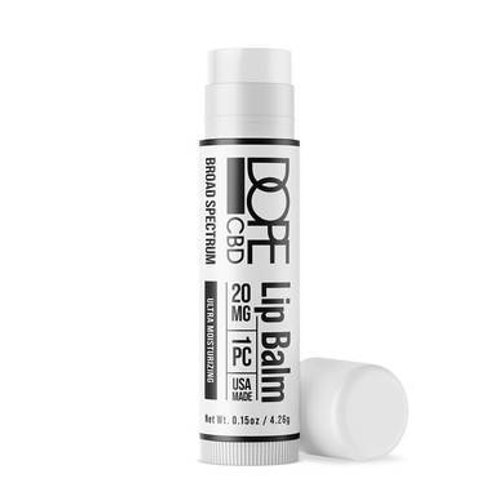 Dope CBD - CBD Topical - Broad Spectrum Moisturizing Lip Balm - 20mg
