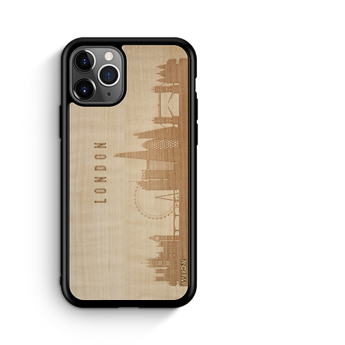 CityScape Wooden Phone Case (London England Skyline)