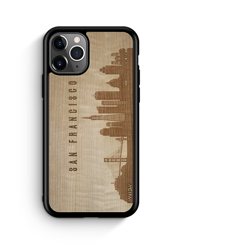 CityScape Wooden Phone Case (San Francisco CA Skyline)