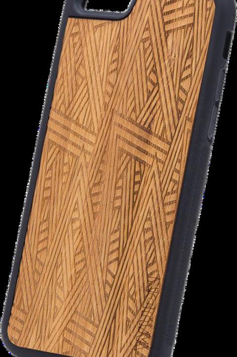 Slim Wooden Phone Case (Aztec in Mahogany)