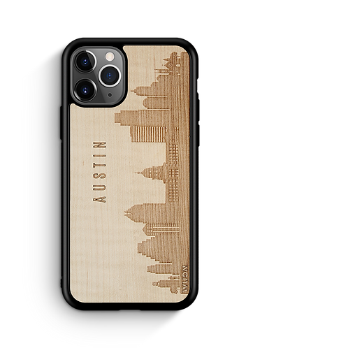 CityScape Wooden Phone Case (Austin TX Skyline)