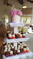 Cake and cupcke tower