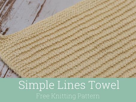 Simple Lines Dishtowel Knitting Pattern