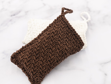 Soap SACK Knitting Pattern: Woven Lines