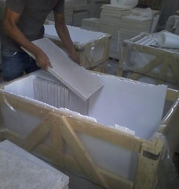 marble, granite and limestone packing