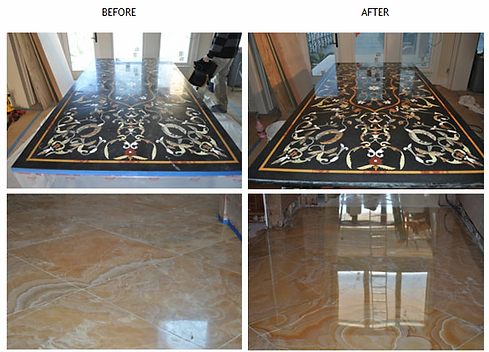 Marble polishing - polishing granite - Etch Marks