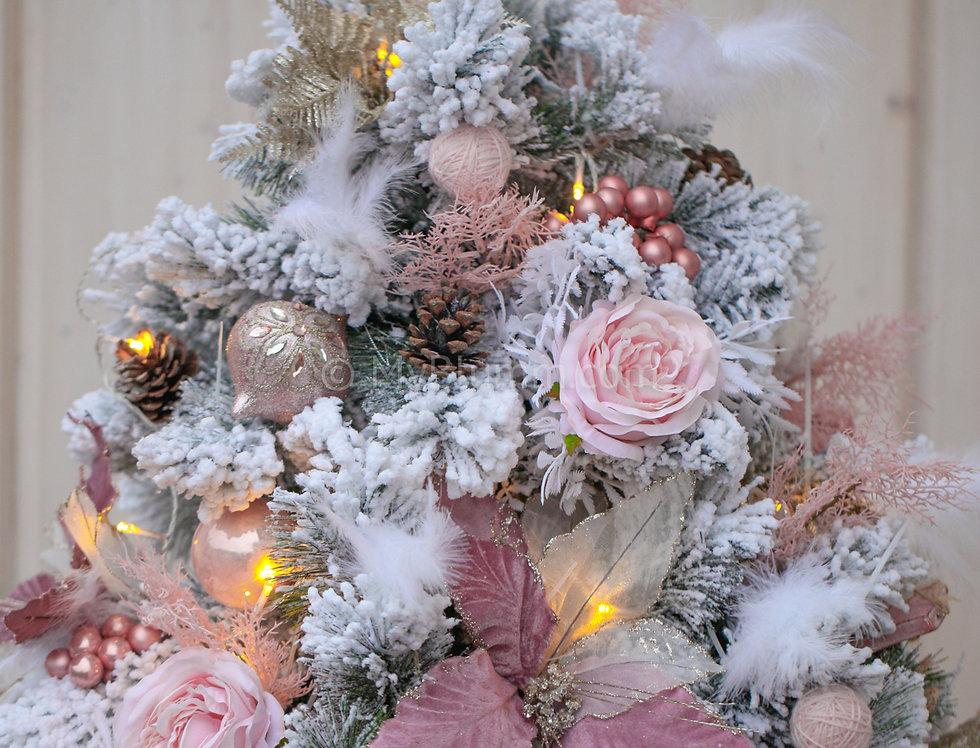 Елочка нежно-розовая 150 см.