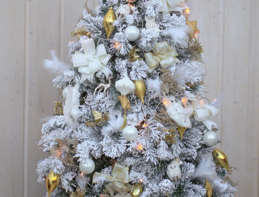 Ель Заснеженная бело-золотая 150 см