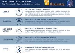 Five Principles of Dark Sky Friendly Outdoor Lighting