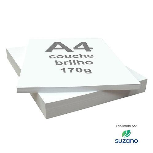 Papel A4 Couche 170g Brilho 125 Folhas