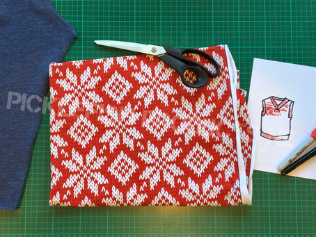 Sewing Tutorial - Make a Christmas Vest - Step 1