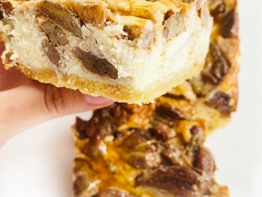Caramelized Pecan Cheesecake Squares (Keto/LowCarb)