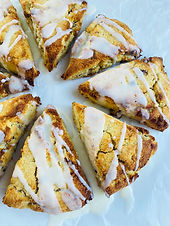 Maple Bacon Scones with a Maple Glaze (Keto, Low Carb, Dairy Free)