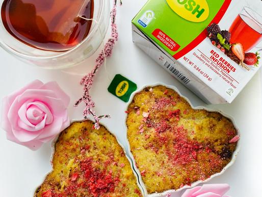 LowCarb Red Berry Tea Infused Blondies