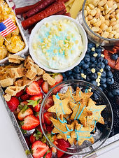 July 4th Themed Charcuterie Board