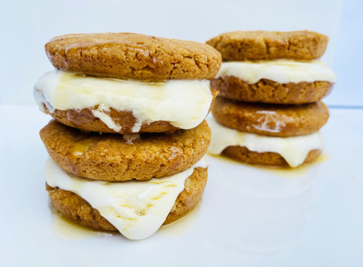Keto/LowCarb Peanut Butter Marshmallow & Honey Stuffed Cookie Sandwiches