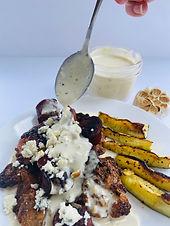Creamy Roasted Garlic & Bleu Cheese Sauce