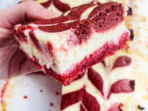 Red Velvet Keto/LowCarb Cheesecake Squares