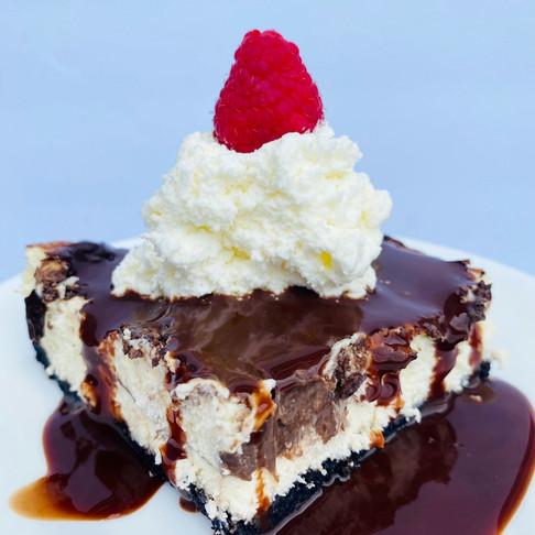 "Keto ""Hot Fudge"" Sundae Cheesecake Bars"