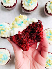 Red Velvet Cupcakes with Cream Cheese Frosting (Keto, Low Carb)