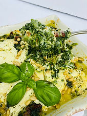 Pesto Style Creamed Spinach