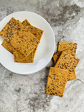 """""""Everything But the Bagel"""" Low Carb/Keto Crackers"""