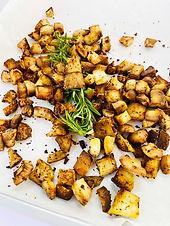 Savory Roasted Coconut Bites- Taste just like Potatoes!