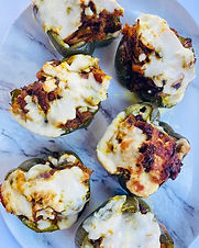 Cheesy Chorizo Stuffed & Broiled Bell Peppers