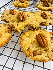 Browned Butter Pecan Cookies- Keto, LowCarb, SugarFree, GF