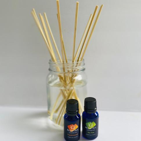 Easy DIY All Natural Reed Diffuser