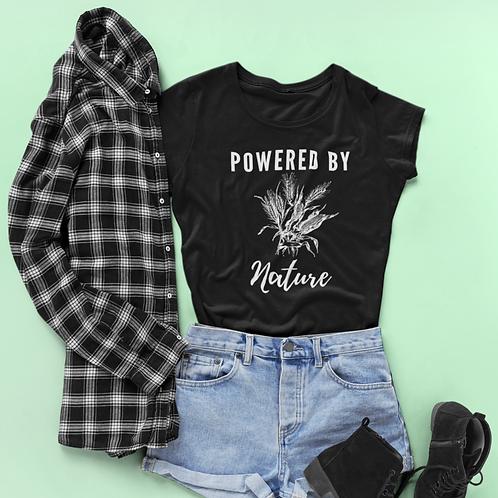 Corn Tee | Powered by Nature T-shirt | Nature Tshirt | Nature Lover Tee |