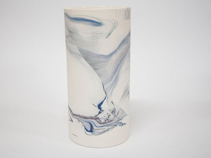 Blue and Purple Marble Vase #1