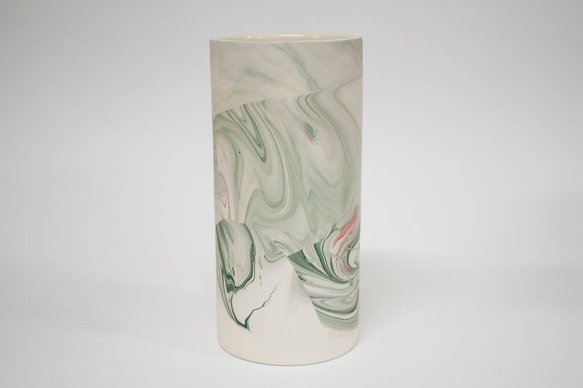Green and Pink Marble Vase