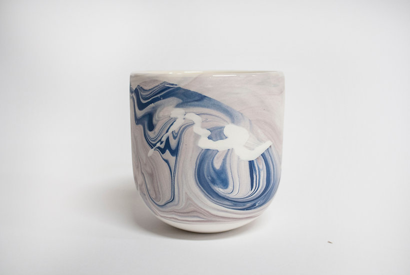 Blue and Lilac Marble Cup 3