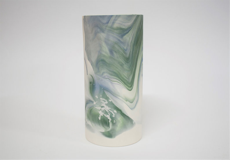 Blue and Green Marble Vase #2