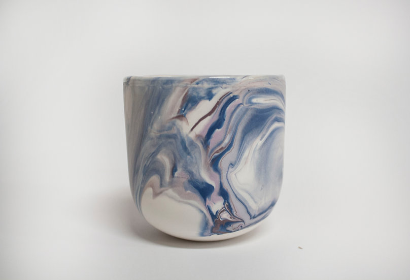 Blue and Lilac Marble Cup 2
