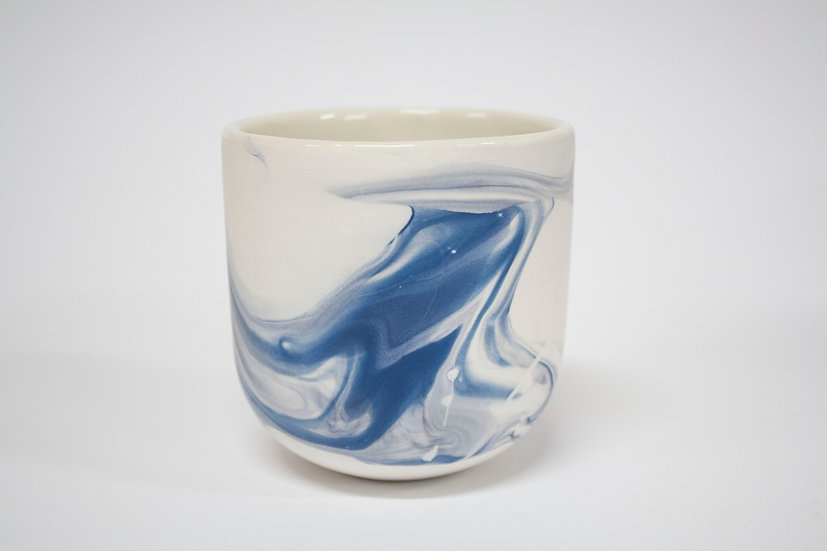 Blue and Purple Marble Cup #1