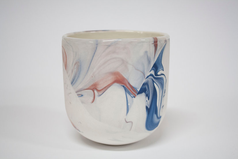 Blue and Pink Marble Cup 3