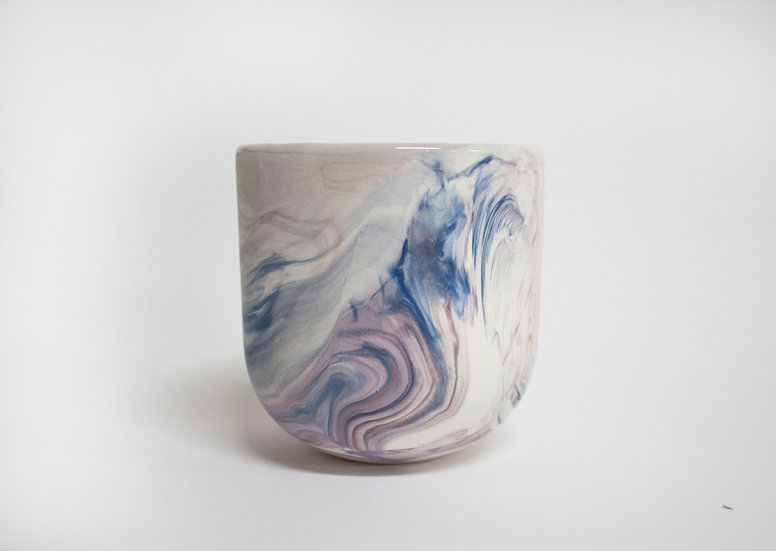 Blue and Lilac Marble Cup #4