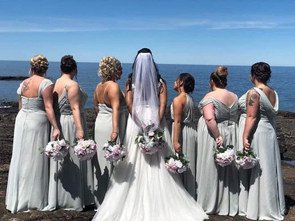 Bridesmaids for a day. Besties for life.
